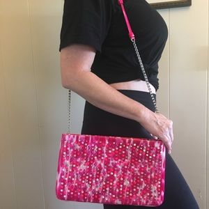 NWT Loubiposh Clutch Patent Leather/Spikes